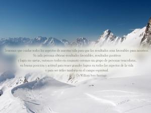 Bonito texto en un paisaje cubierto de nieve