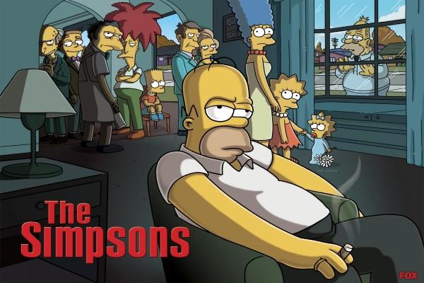 """Los Simpson emulando a la serie """"Los Soprano"""""""