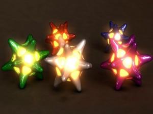 Estrellas de varios colores y un centro iluminado
