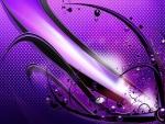 Figura abstracta en un fondo color púrpura