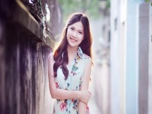 Una muchacha sonriendo