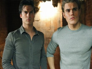 Stefan y Damon Salvatore (Cronicas Vampíricas)