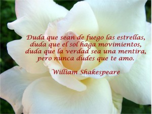 "Frase de amor de ""Willian Shakespeare"""