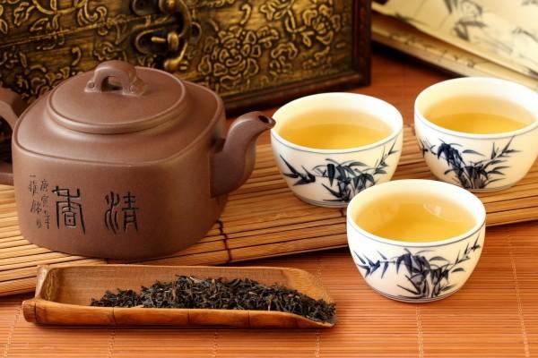 Té chino servido en unos bonitos cuencos