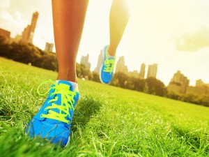 Corriendo sobre la hierba