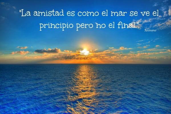 Frase Sobre La Amistad Escrita Sobre El Mar 62481