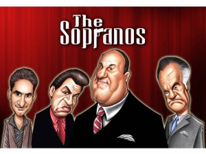 """Caricatura de """"Los Soprano"""""""