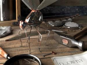 Una libélula eletrónica