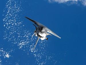 Un transbordador espacial