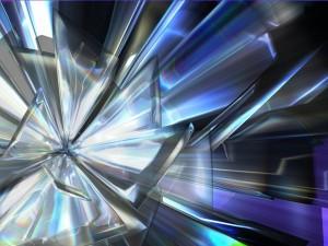 Varias láminas de cristal translúcido