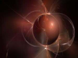 Punto de luz dentro de una esfera