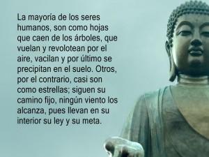 Gran frase junto a un Buda