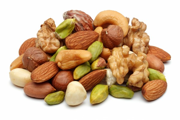 Unos ricos frutos secos al natural