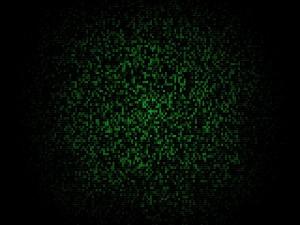 Mosaico verde y negro