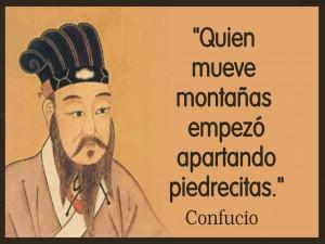 Frase junto al rostro de Confucio