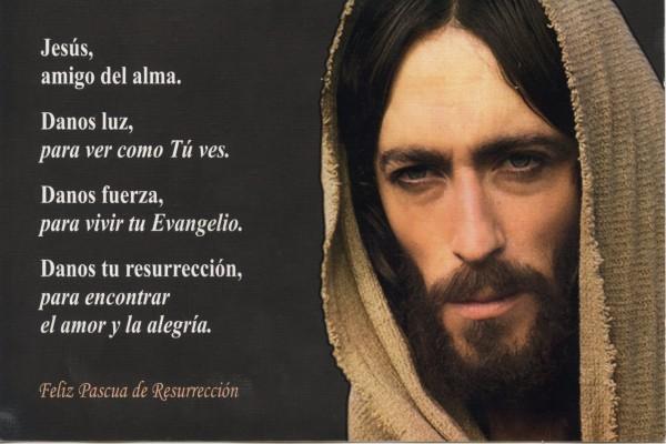 Frases junto al rostro de Jesús