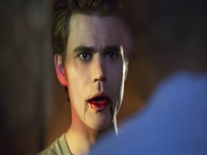 Stefan Salvatore con la boca ensangrentada (The Vampire Diaries)