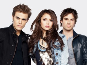 Stefan, Elena y Damon (The Vampire Diaries)