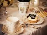 Tartaleta con crema pastelera y moras