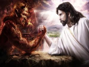 Jesús echando un pulso con el diablo