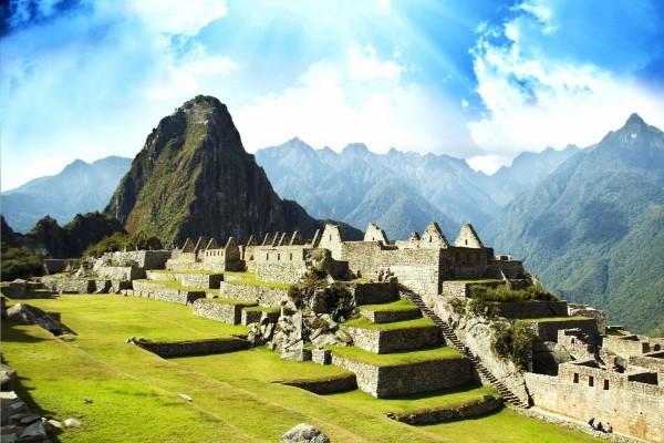 Vista del Machu Picchu y las ruinas