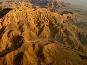 Vista del Valle de las Reinas (necrópolis del antiguo Egipto)