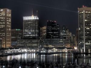 Puerto de la ciudad metropolitana de Baltimore
