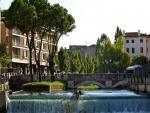 Río Sile a su paso por la bella ciudad de Treviso (Italia)
