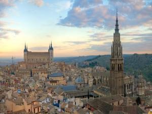 Hermosa vista de la ciudad de Toledo (España)