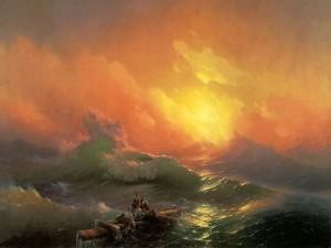 """""""Novena ola"""" una pintura de Iván Aivazovski"""