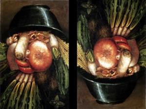 Retrato con verduras (Giuseppe Arcimboldo)