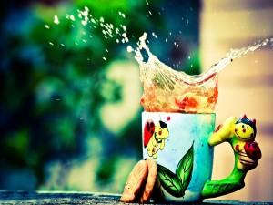 Galletas junto a una taza de té