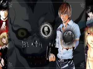 "Personajes del anime ""Death Note"""