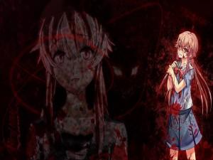 Yuno ensangrentada (Mirai Nikki)
