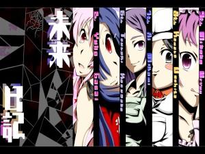 """Cinco personajes del anime """"Mirai Nikki"""""""