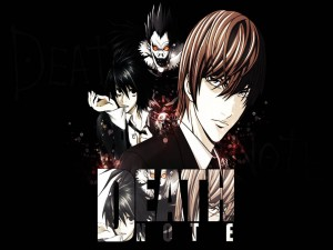 Tres personajes del anime (Death Note)