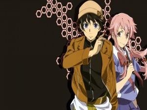 Yuki junto a Yuno (Mirai Nikki)