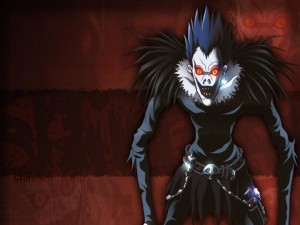 "Ryuk, un shinigami del anime ""Death Note"""