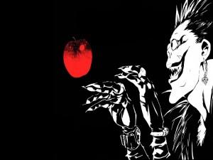 Ryuk con una manzana roja (Death Note)