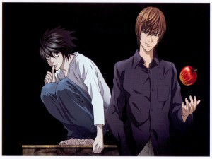 L junto a Light Yagami (Death Note)