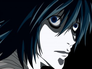 La cara de L Lawliet (Death Note)