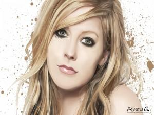 El rostro de la cantante Avril Lavigne