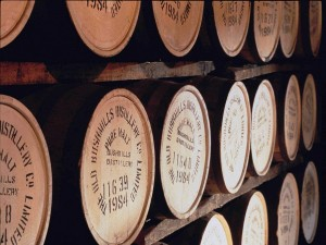 Postal: Barriles de whisky