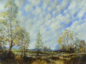 Pintura de un bonito paisaje