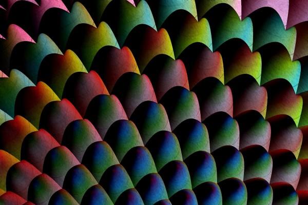 Dibujo abstracto de varios colores