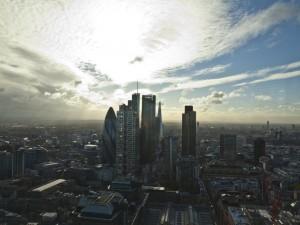 Vistas del distrito financiero de Londres