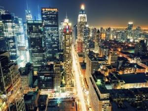 Una ciudad iluminada