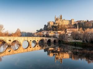 Bonita vista de Béziers (Francia)