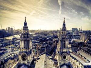 Vistas de algunos edificios de Londres