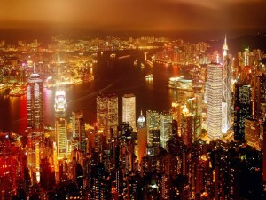 Luces en Hong Kong